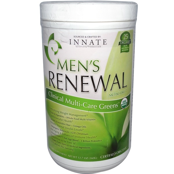 Innate Response Formulas, Men's Renewal MetaCore, Clinical Multi-Care Greens, 12.7 oz (360 g) (Discontinued Item)