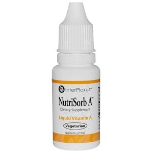Интерплексас Инк, NutriSorb A, Liquid Vitamin A, 0.6 fl oz (17 ml) отзывы