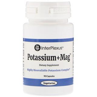 InterPlexus Inc., Potassium+Mag, 90 Capsules