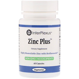 InterPlexus Inc., Zinc Plus, 60 Capsules