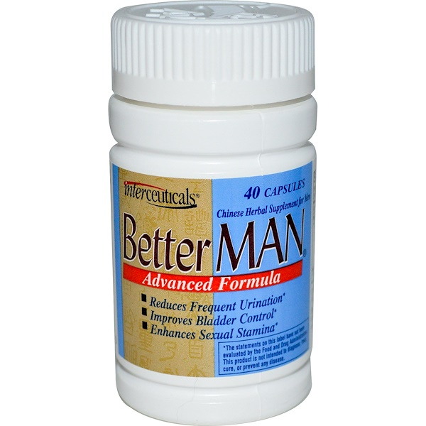 Interceuticals Inc., Better Man, Chinese Herbal Supplement for Men, 40 Capsules (Discontinued Item)
