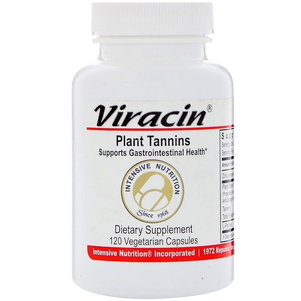 Intensive Nutrition, Viracin, Plant Tannins, 120 Vegetarian Capsules (Discontinued Item)