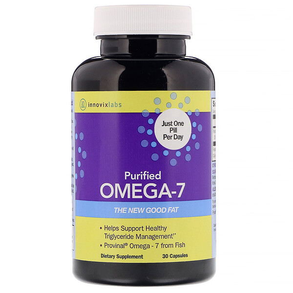 InnovixLabs, Purified Omega-7, 30 Capsules