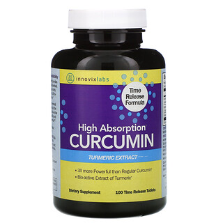 InnovixLabs, High Absorption Curcumin, 100 Time Release Tablets