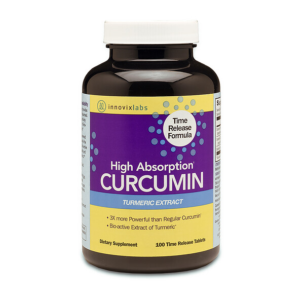 High Absorption Curcumin, 100 Time Release Tablets