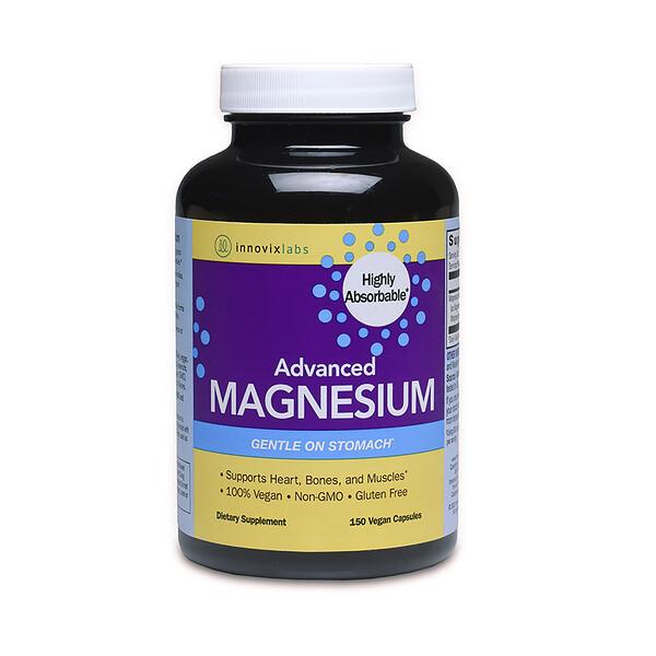 InnovixLabs, アドバンスマグネシウム、植物性カプセル150錠