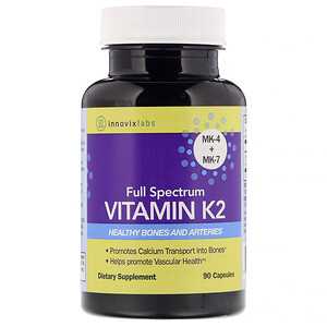 InnovixLabs, Full Spectrum Vitamin K2, 90 Capsules'