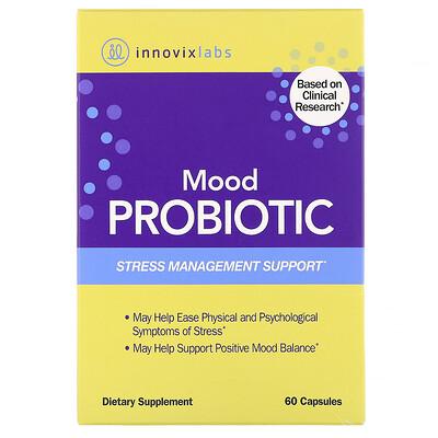 Купить InnovixLabs Пробиотик для улучшения настроения, помощь в борьбе со стрессом, 60капсул