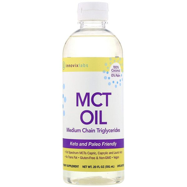 InnovixLabs, MCT Oil, Medium Chain Triglycerides, Unflavored, 20 fl oz (591 ml) (Discontinued Item)
