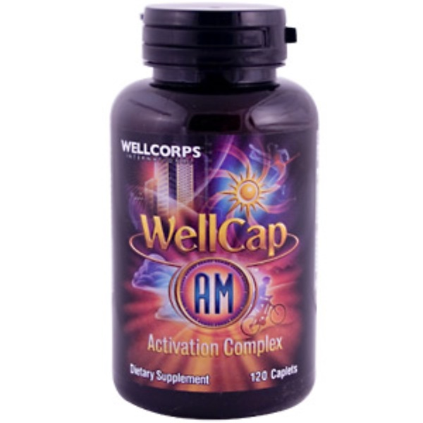 Wellcorps Int., WellCap AM Energy Formula, 120 Caplets (Discontinued Item)