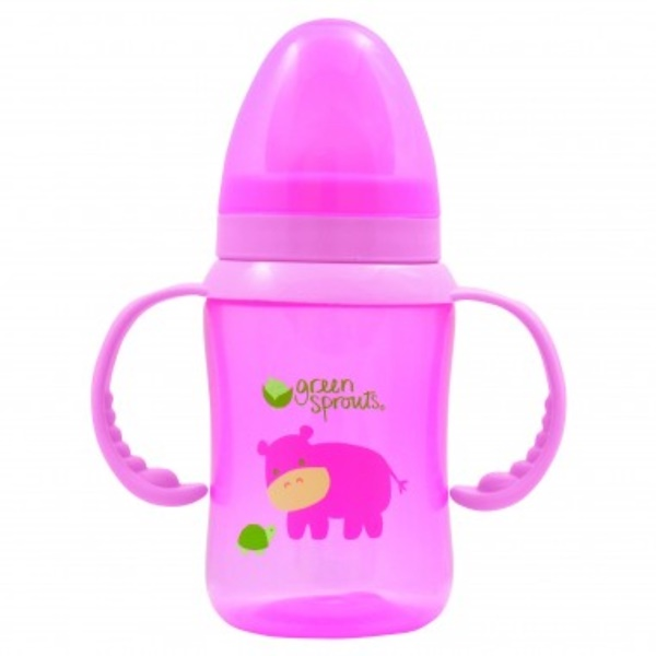 iPlay Inc., Green Sprouts, Pink Trainer Cup, 6-24 Months, 8 oz (240 ml) (Discontinued Item)