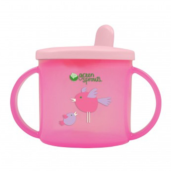 iPlay Inc., Green Sprouts,  Pink Sippy Cup, 3-12 Months, 6.5 oz (192 ml) (Discontinued Item)