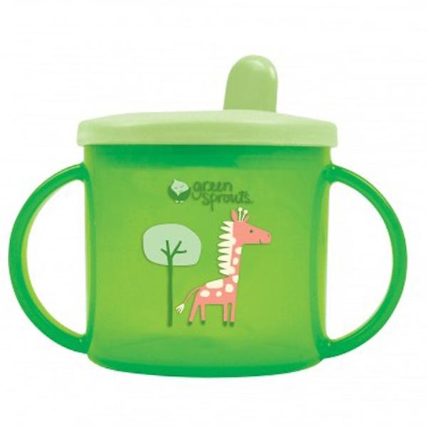 iPlay Inc., Green Sprouts, кружка с защитой от проливания, 3-12 месяцев, этап 2/3, зеленый, объем 6,5 унций (192 мл) (Discontinued Item)