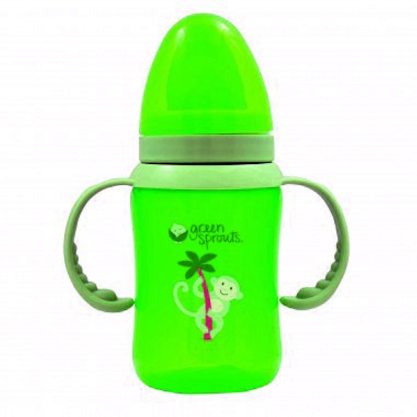 iPlay Inc., Green Sprouts, Green Trainer Bottle, Stage 3/4, 8 oz (240 ml) (Discontinued Item)