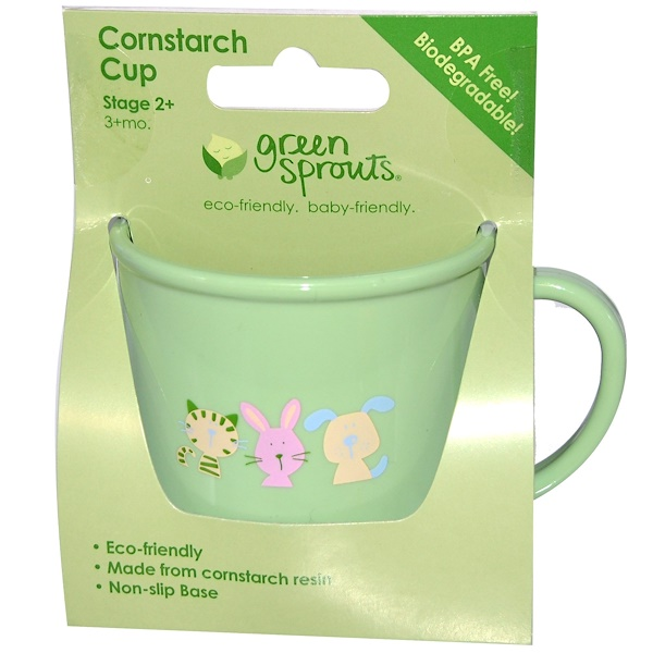 iPlay Inc., Green Sprouts, Cornstarch Cup, Stage 2+ (3+ Months) (Discontinued Item)
