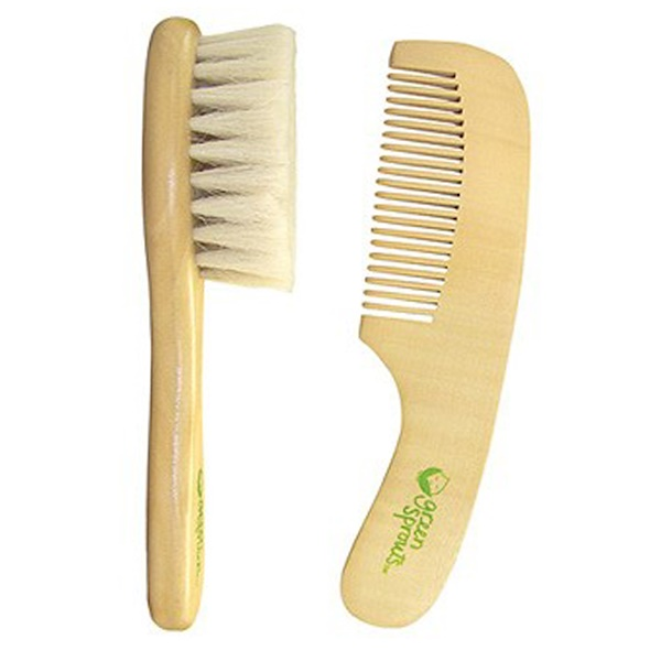 iPlay Inc., Green Sprouts, Brush & Comb Set, 2 Piece Set