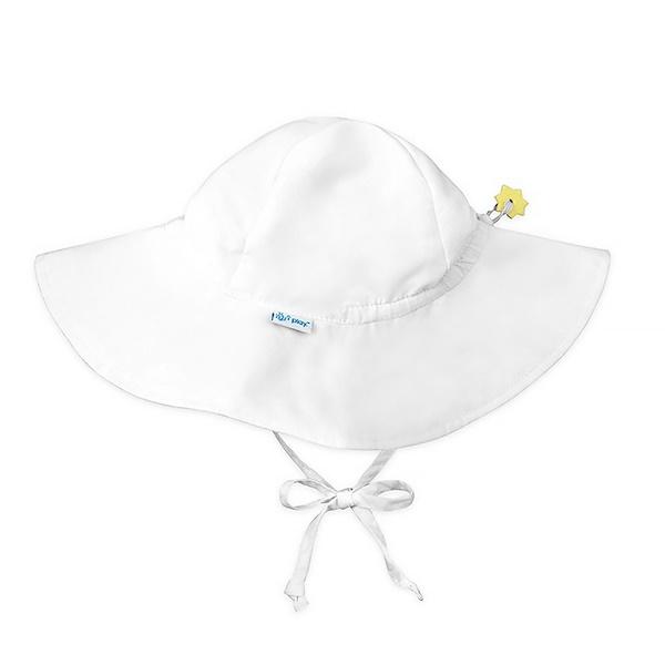 i play Inc., Солнцезащитная шляпа, UPF 50+, белая, для детей в возрасте от 2 до 4 лет, 1 шляпа (Discontinued Item)