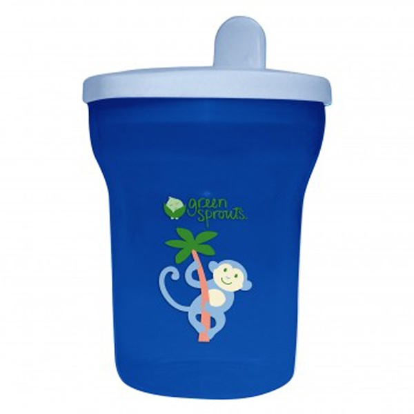 iPlay Inc., Green Sprouts,  Blue Sippy Tumbler, 12-24+ Months, 7 oz (200 ml) (Discontinued Item)