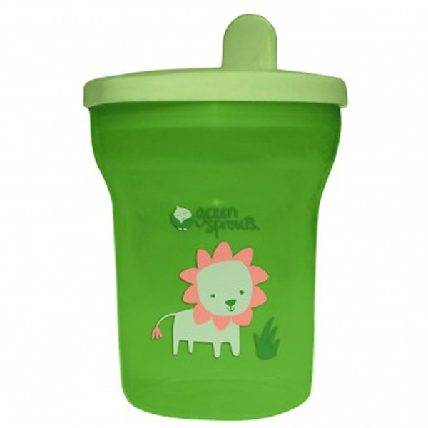 iPlay Inc., Green Sprouts, Green Sippy Tumbler, 12-24+ Months, 7 oz (200 ml) (Discontinued Item)
