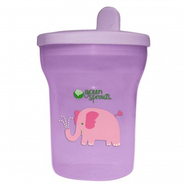 iPlay Inc., Green Sprouts, Lavender Sippy Tumbler, 12-24+ Months, 7 oz (200 ml) (Discontinued Item)