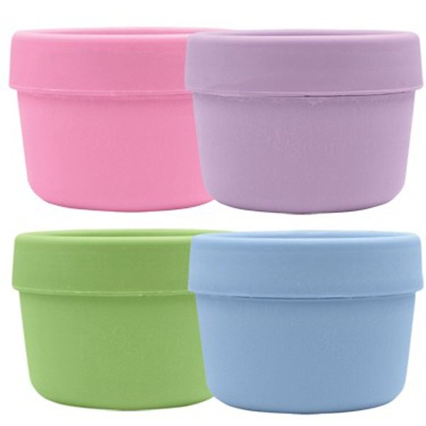 iPlay Inc., Green Sprouts, Snack Cups, 3 Months- 2 Years +, 4 Cups/4 Lids (Discontinued Item)