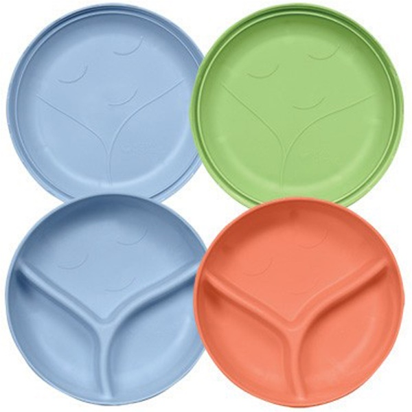 iPlay Inc., Green Sprouts, Sprout Ware Plates & Bowls, 3 mo-2 yr+, 2 Bowls/2 Plates (Discontinued Item)