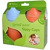 iPlay Inc., Green Sprouts, Sprout Ware Sippy Cups with Travel Lid, 3 Months-2 Years+, 3 Cups/ 3 Spouts (Discontinued Item)
