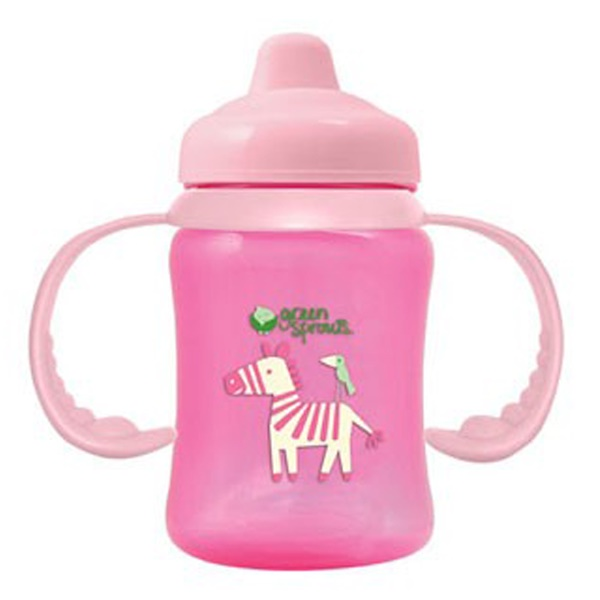 iPlay Inc., Green Sprouts,  Pink Non-Spill Sippy Cup, 3-24 Months, 6 oz (180 ml)  (Discontinued Item)