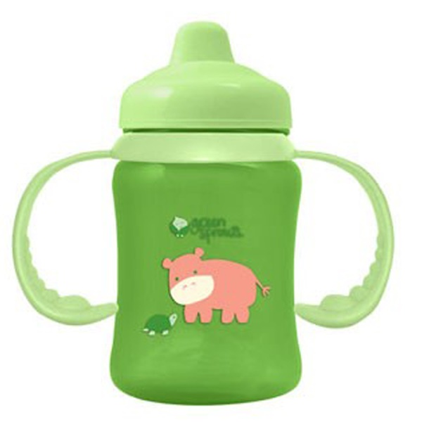 i play Inc., Green Sprouts, Green Non-Spill Sippy Cup, 3-24 Months, 6 oz (180 ml) (Discontinued Item)