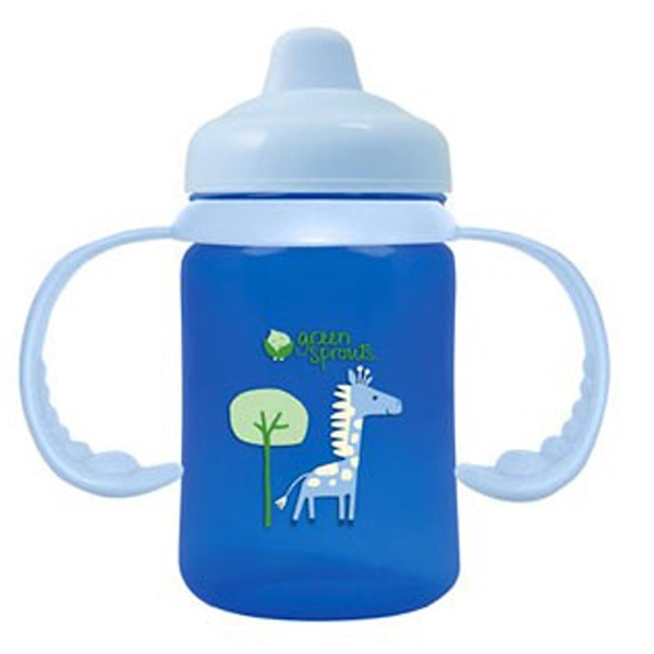 iPlay Inc., Green Sprouts, Blue Non-Spill Sippy Cup, 3-24 Months, 6 oz (180 ml)  (Discontinued Item)