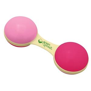 Айплэй ИНк, Cornstarch Dumbbell Rattle, Hot Pink Color отзывы