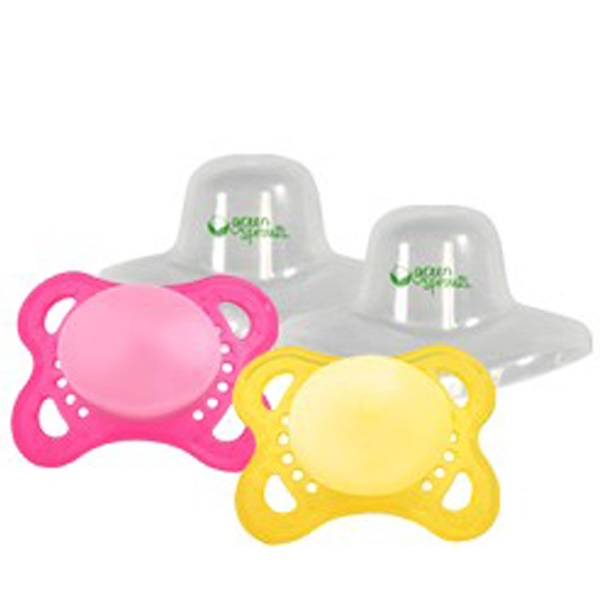i play Inc., Pacifiers 0-6 Months, Girl, 2 Pack (Discontinued Item)