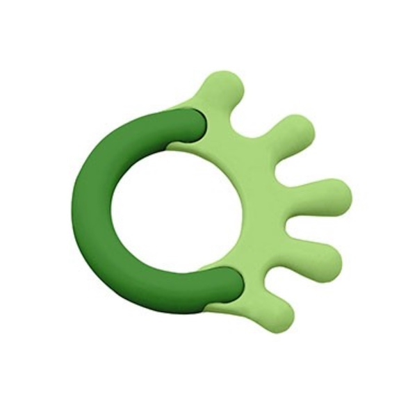 i play Inc., Green Sprouts, Cornstarch Hand Teether, Green, 1 Teether (Discontinued Item)