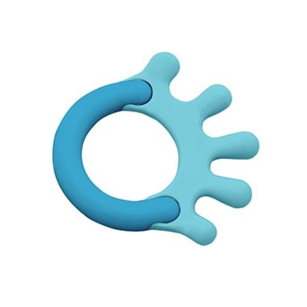 i play Inc., Green Sprouts, Cornstarch Hand Teether, Blue, 1 Teether (Discontinued Item)