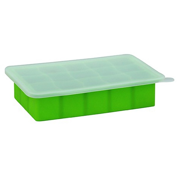 i play Inc., Green Sprouts, Fresh Baby Food Freezer Tray, Green, 1 Tray, 15 Portions - 1 oz (28 ml) Cubes Each (Discontinued Item)