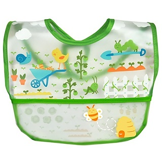 iPlay Inc., Green Sprouts, Wipe-off Bib, 9-18 Months, Green, 1 Bib