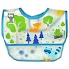 i play Inc., Green Sprouts, Wipe-off Bib, 9-18 Months, Blue, 1 Bib