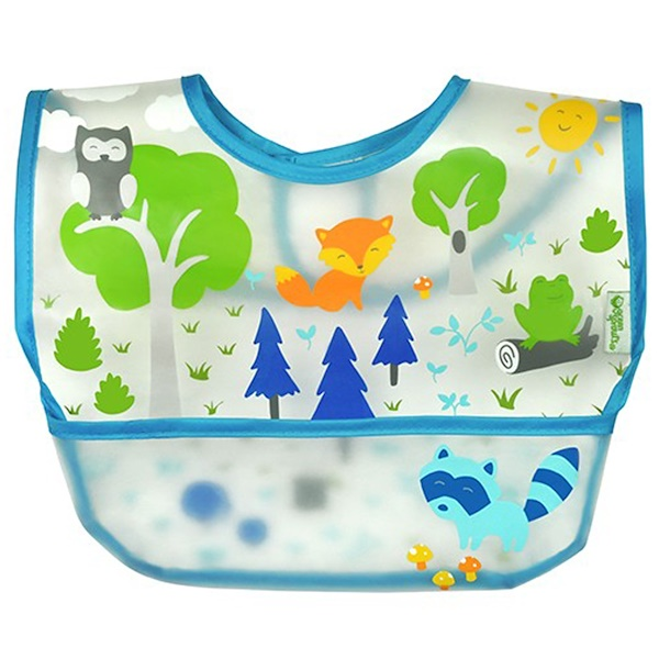 i play Inc., Green Sprouts, детский нагрудник, 9-18 месяцев, синий, 1 шт