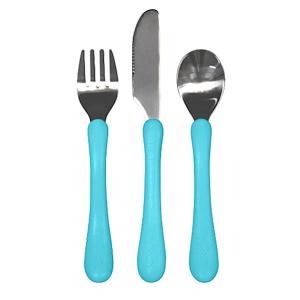 Айплэй ИНк, Learning Cutlery Set, 12 Months+, Blue Handle, 1 Fork, Knife, Spoon отзывы