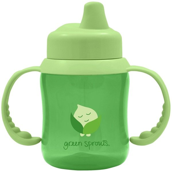 i play Inc., Green Sprouts, Non-Spill Sippy Cup, Green, 6 oz (180 ml) (Discontinued Item)