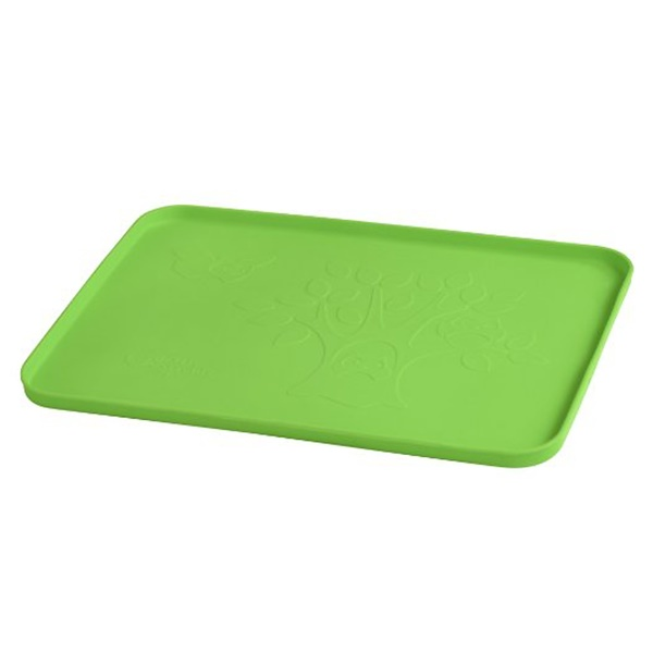 """i play Inc., Learning Platemat, 6+ Months, Green, 1 Mat, 14"""" x 10"""" (35.5 cm x 25 cm) (Discontinued Item)"""