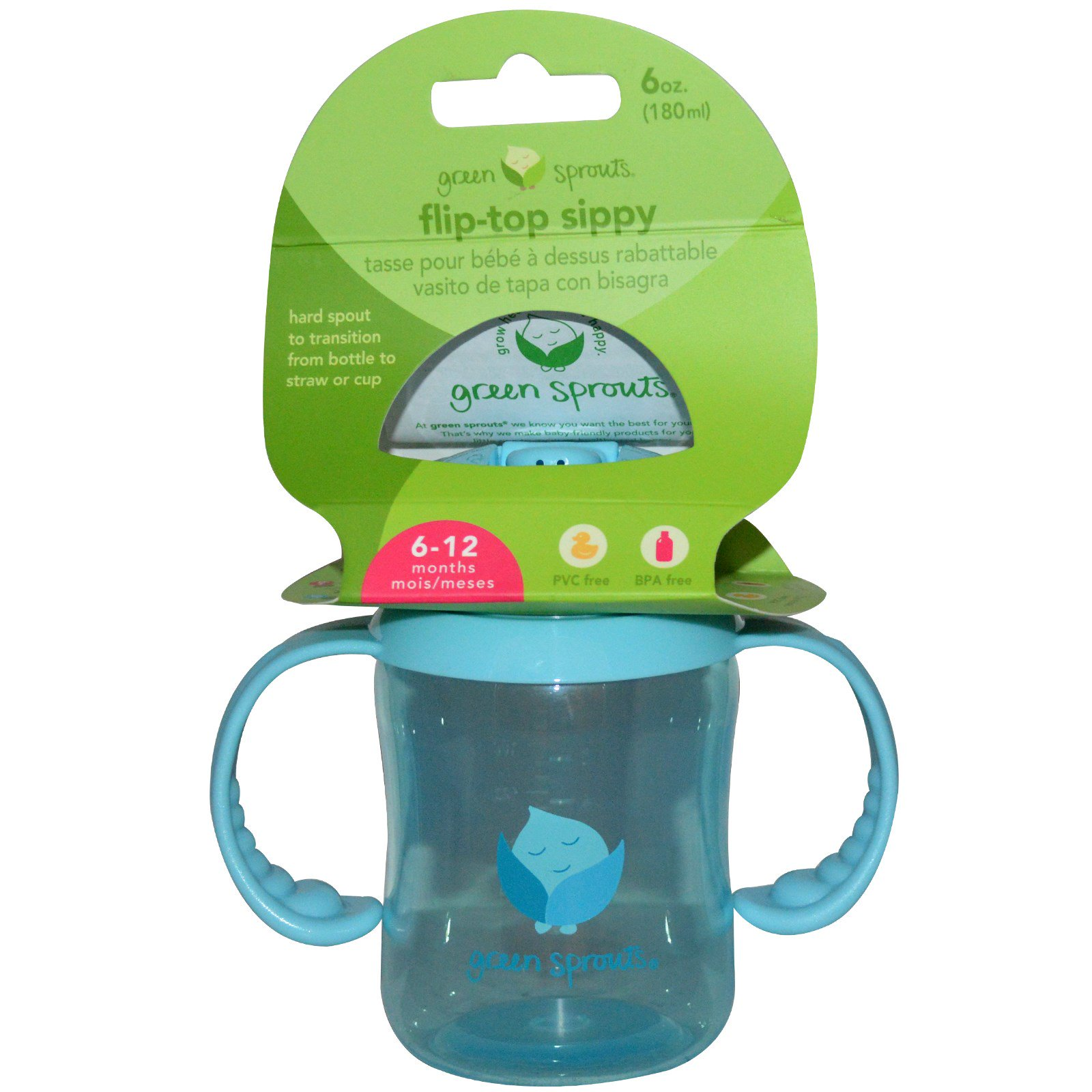 Iplay Inc Green Sprouts Flip Top Sippy Blue 6 Oz 180 Ml Boon Cup Tall 10oz Click To Zoom