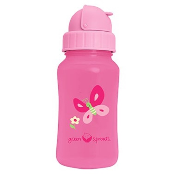 i play Inc., Green Sprouts, Aqua Bottle, Pink, 10 oz (300 ml) (Discontinued Item)
