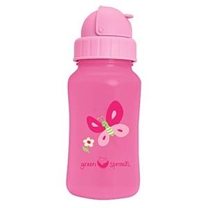 Айплэй ИНк, Green Sprouts, Aqua Bottle, Pink, 10 oz (300 ml) отзывы покупателей