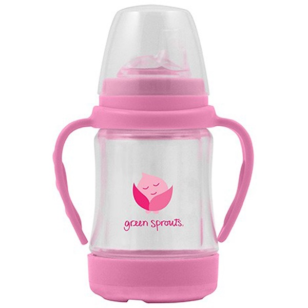 i play Inc., Glass Sip & Straw Cup, 6+ Months, 9+ Months, Pink, 1 cup 4 oz (125 ml) (Discontinued Item)