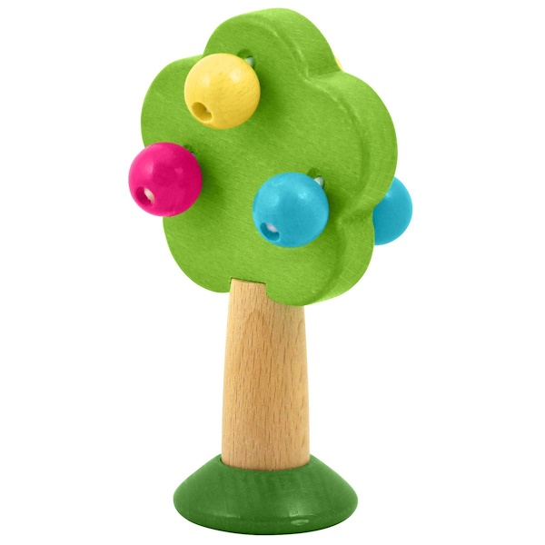 i play Inc., Wood Tree Rattle, 6+ Months, 1 Rattle (Discontinued Item)
