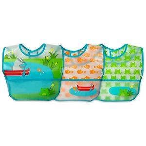 Айплэй ИНк, Green Sprouts, Wipe-Off Bibs, 9-18 Months, Aqua Pond Set, 3 Pack отзывы