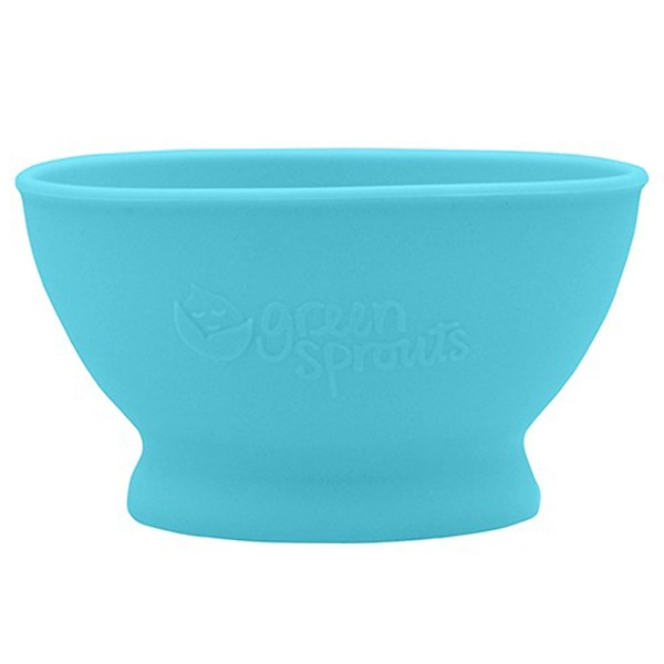 i play Inc., Green Sprouts, Learning Bowl, 6+ Months, Blue, 1 Bowl, 7 oz (207 ml) (Discontinued Item)