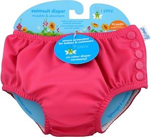 Айплэй ИНк, Swimsuit Diaper, Reusable & Absorbent, 24 Months, Hot Pink, 1 Diaper отзывы