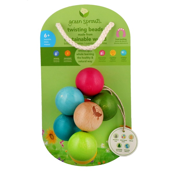 i play Inc., Green Sprouts, Twisting Beads, 6+ Months (Discontinued Item)